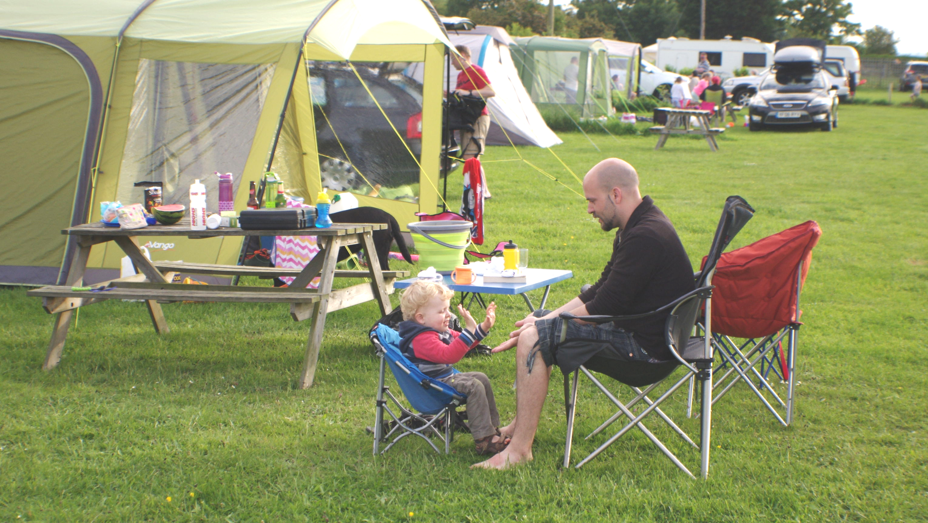 Camping with the Family at Standen Lodge Campsite